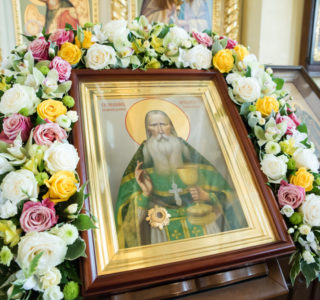 В день памяти Иоанна Оленевского в Сергиевском храме села Соловцовка состоялась праздничная Литургия