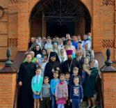Архипастырь совершил воскресную Божественную литургию в храме Архангела Михаила п.Чамзинка