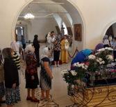 Всенощное бдение в Никольском кафедральном соборе накануне праздника Успения Божией Матери