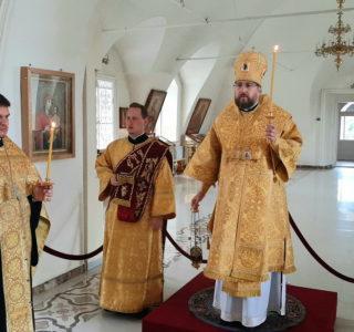 Всенощное бдение накануне Недели 9-й по Пятидесятнице в Никольском кафедральном соборе