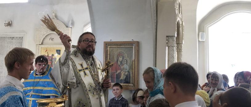 Неделя 12-я по Пятидесятнице в Никольском кафедральном соборе. Архипастырь благословил учащихся перед новым учебным годом