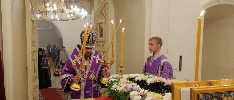 Всенощное бдение накануне Воздвижения Креста Господня в Никольском кафедральном соборе г.Ардатова