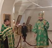 Всенощное бдение с чтением акафиста преп. Сергию Радонежскому в Никольском кафедральном соборе г.Ардатова