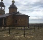 В Казанском приходе с.Николаевка Дубенского благочиния возводят ограду вокруг храма