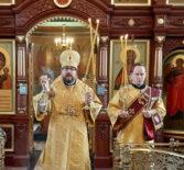 Архипастырь совершил Божественную литургию в Благовещенском приходе п.Комсомольский Чамзинского благочиния
