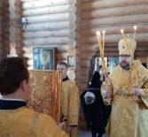 Божественная литургия на Лукинском архиерейском подворье г.Саранска