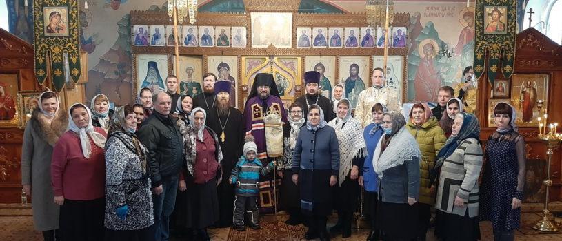 Архипастырь совершил Божественную литургию в храме Архангела Михаила с.Чукалы Ардатовского района
