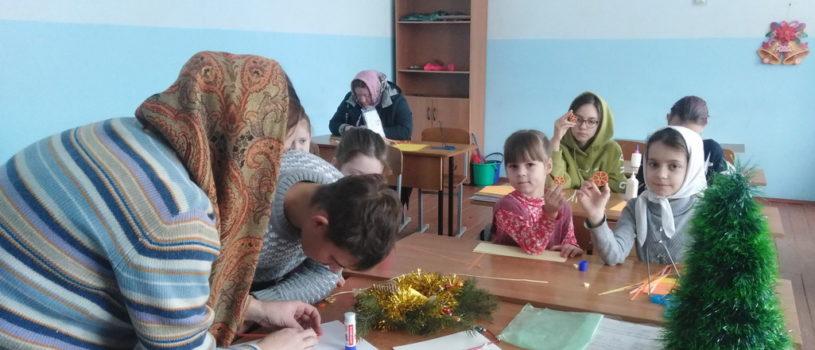 Продолжается подготовка к Рождеству в воскресной школе Никольского кафедрального собора