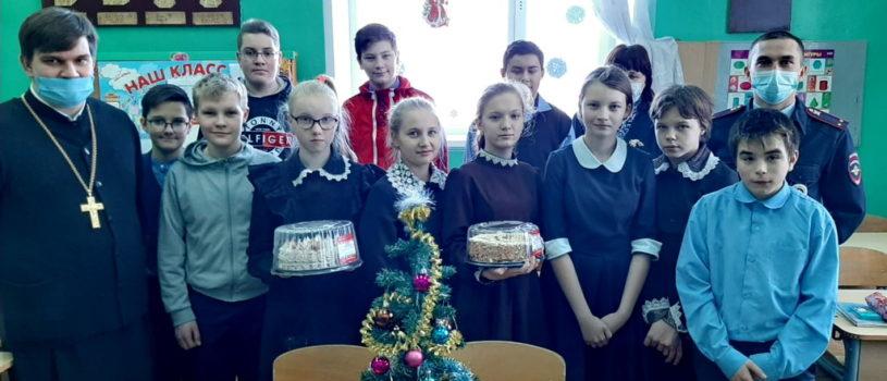 Учеников Ардатовской школы-интернат для детей с нарушением зрения поздравили с наступающим Новолетием и Рождеством Христовым