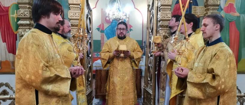 Архипастырь совершил Божественную литургию в Казанском приходе с.Киржеманы 1-го церковного округа Атяшевского благочиния