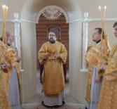 Божественную литургия на Лукинском архиерейском подворье г.Саранска