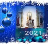 Архипастырь в новогоднюю ночь совершил Божественную литургию в Никольском кафедральном соборе г.Ардатова