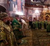 Начало молитвенного торжества в Свято-Троицком Серафимо-Дивеевском женском монастыре