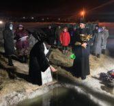 Архипастырь освятил Иордань в центре Ардатова на реке Алатырь