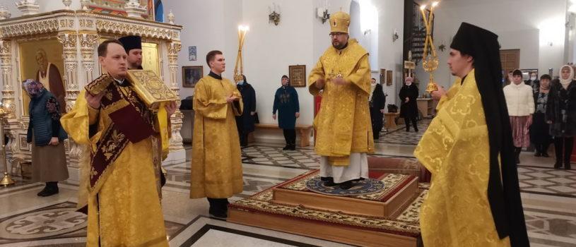 Архипастырь совершил Божественную литургию в храме святого апостола Андрея Первозванного п.Атяшево