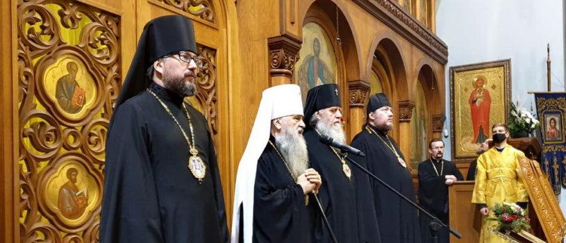Всенощное бдение вхраме Успения Пресвятой Богородицы на Малой Охте г.Санкт-Петербурга