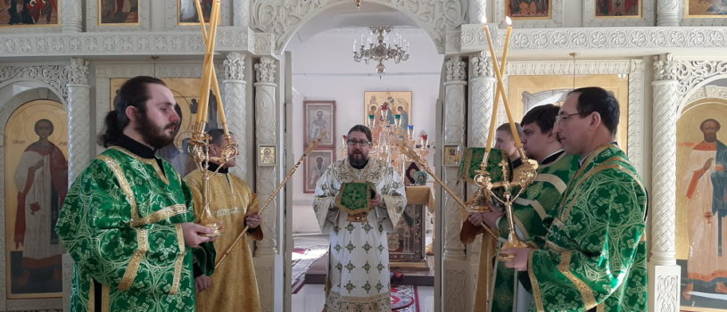 Архипастырь совершил Божественную литургию в Никольском кафедральном соборе г. Ардатова