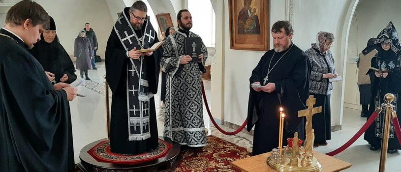 Четверг 1-ой седмицы Великого поста в Никольском кафедральном соборе г. Ардатова