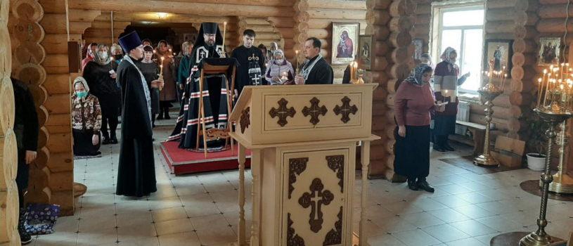 Великое повечерие с чтением покаянного канона Андрея Критского на архиерейском Лукинском подворье г.Саранска