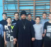 Помощник Чамзинского благочинного по работе с молодежью посетил Комсомольскую СОШ №1 Чамзинского района