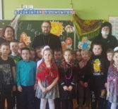 Архипастырь посетил Широкую Масленицу в Ардатовской ООШ