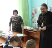 Архипастырь посетил открытый урок ОПК в Большеберезниковской ООШ