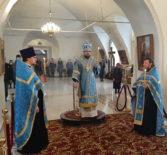Великое повечерие и Утреня в Никольском кафедральном соборе накануне Благовещения Пресвятой Богородицы