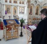 Архипастырь молился за уставным великопостным богослужением в Никольском кафедральном соборе накануне Великого Четверга