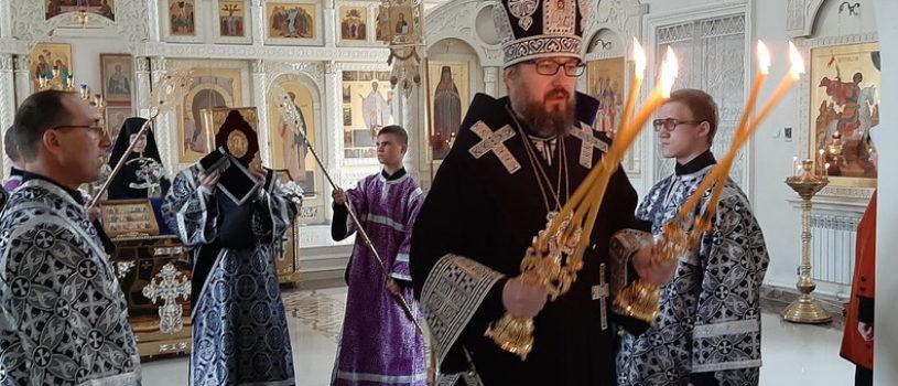 Великая Среда Страстной седмицы в Никольском кафедральном соборе г.Ардатова