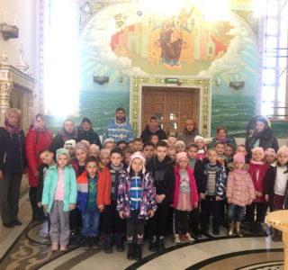 В Андреевском кафедральном соборе на Благовещение провели экскурсию для воспитанников Атяшевского д/с