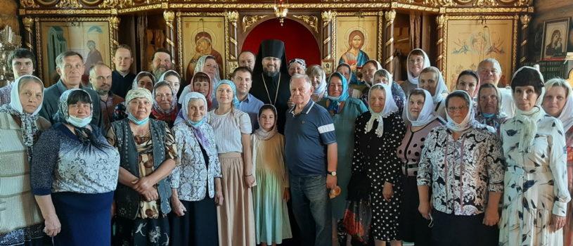 Архипастырь совершил Божественную литургию в Вознесенском приходе с.Кульмино Чамзинского района