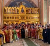 Второй день Общецерковного съезда по социальному служению начался Божественной литургией в Князь-Владимирском храме г.Москва