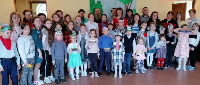 Воскресная школа Благовещенского прихода поздравила своего настоятеля прот.Георгия Щербакова с Днем ангела