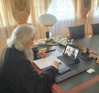 Заседание Архиерейского Совета Мордовской митрополии в онлайн формате