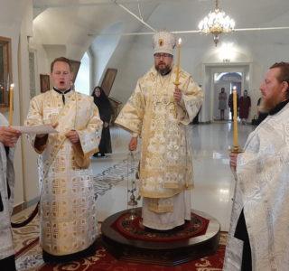Всенощное бдение в Никольском кафедральном соборе накануне Вознесения Господня
