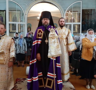Владыка поздравил прихожан Вознесенского прихода с.Атяшево с Престольным торжеством