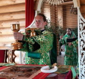 Отдание праздника Пятидесятницы на Лукинском архиерейском подворье г.Саранска