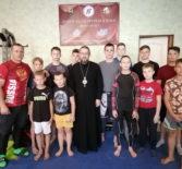 Архипастыр посетил спортивный клуб по рукопашному бою «Zotov Tеам Fitness & MMA» п.Чамзинка