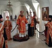 Всенощное бдение с чтением акафиста вмч. Пантелеимону в Никольском кафедральном соборе г.Ардатова