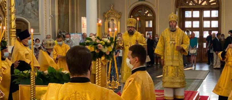 Архипастырь возглавил Всенощное бдение в Феодоровском кафедральном соборе г.Саранска