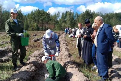 Врио Главы Республики Мордовия и Архипастырь приняли участие в экологической  Всероссийской акции «Сохраним лес»